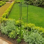 Harrod Tall Circular Plant Supports – Matt Black