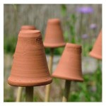 Terracotta Flowerpot Cane Toppers (set Of 5)