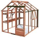 Growhouse Cedar 6ft X 8ft Greenhouse