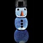 Solar Snowman Bird Feeder